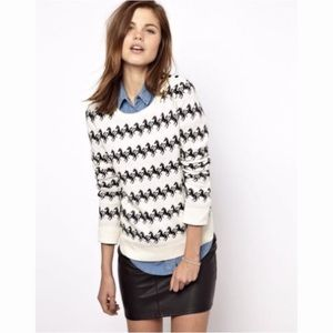 French Connection Stallion/Horse Print Sweater